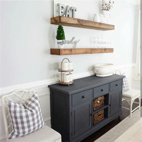 Decorating Ideas Kitchen Buffet by Above The Bar The Floating Wood Shelves