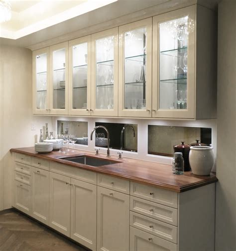 mirrored glass kitchen cabinets awesome white wooden kitchen cabinet set with mirror