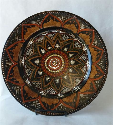 decorative plate hand painted plate accent plate plate