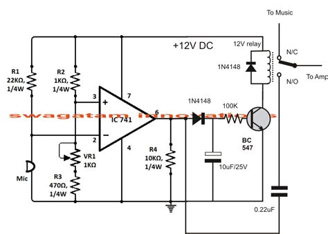 Sound Activated Automatic Amplifier Mute Circuit
