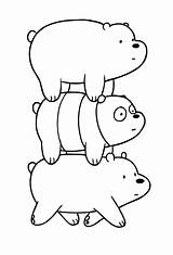 Bears Bare Coloring Cartoon Drawing Network Dei Templates Template Resolution sketch template