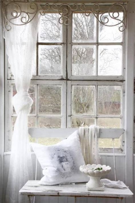 shabby chic window treatments shabby chic lace curtain for the home pinterest