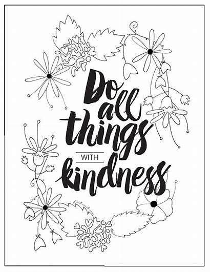 Kindness Coloring Pages Printables Things Quote