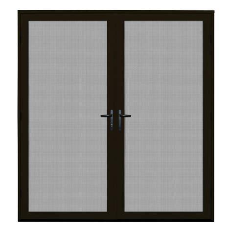 bronze screen door unique home designs 72 in x 80 in bronze recessed mount