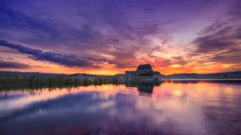 Hd Desktop Picture by Beautiful Purple Sunset Hd Desktop Wallpapers 1080p