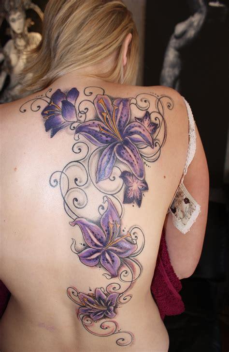 Tattoo Blumen Pflanzen Ruecken 234  Art Of Paint