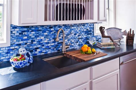 blue kitchen tiles ideas inspiring kitchen backsplash design ideas hgtv s 4833