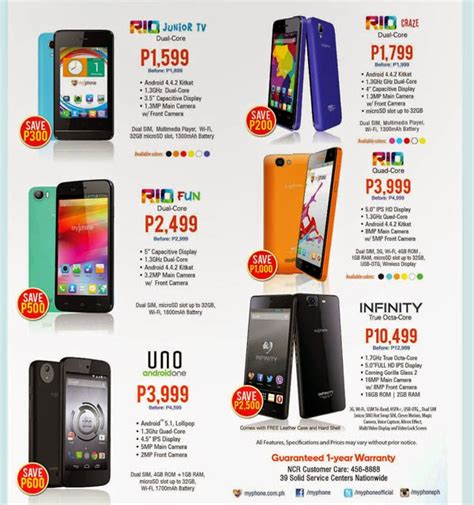Myphone Mobile Phones Price List by Myphone Nationwide Sale Official Price List Up To 60
