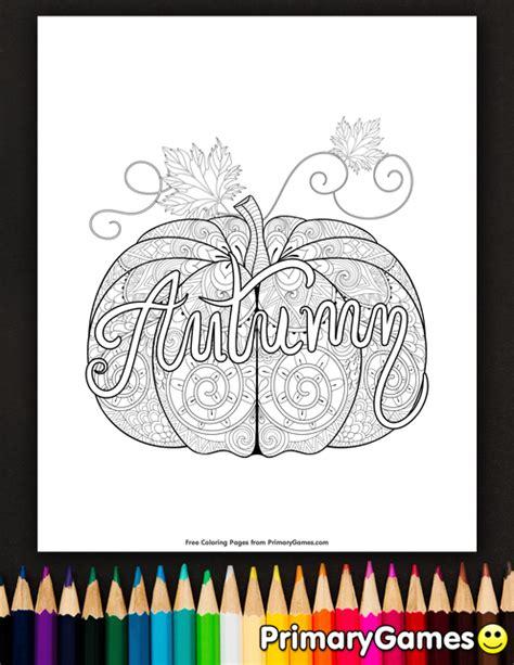 autumn pumpkin zentangle coloring page printable fall