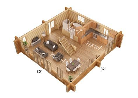 chambre de chalet plan de chalet en bois rond