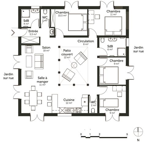 plan de maison avec 4 chambres plan maison cubique 120 m avec 4 chambres ooreka