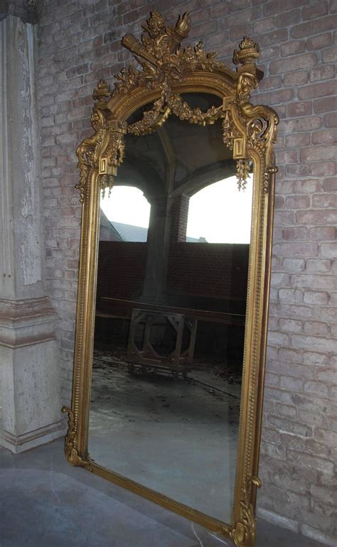 gilded floor mirror pair of 19th century large gold gilded mirror at 1stdibs