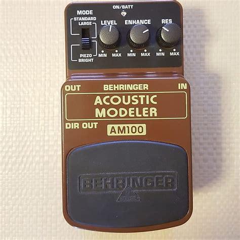 Behringer Am100 Uf 100 behringer am100 acoustic modeler federico s shop reverb