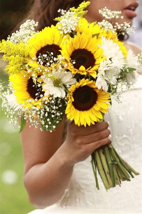 sunflower bridal bouquetsunflower  gerbera daisy
