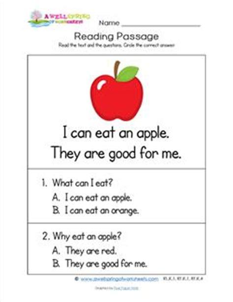 kindergarten reading passages apple  wellspring