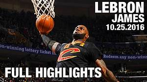 LeBron James' TRIPLE DOUBLE Full Highlights l Opening ...