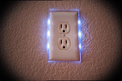 outlet plate night light led nightlight lighted switch plate single outlet ebay