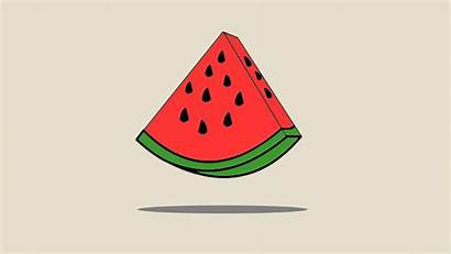 Watermelon Vector Minimalism Melon Cartoon Minimal 1080p