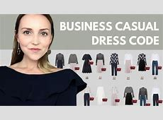 The business casual dress code capsule wardrobe example