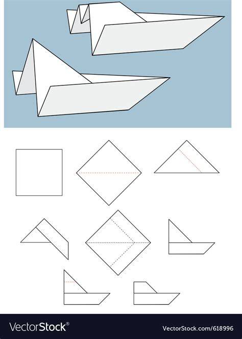 How To Make A Paper Boat In Origami by Paper Boat Origami Royalty Free Vector Image Vectorstock