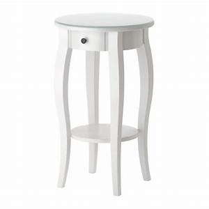 Ikea Petite Table : round white nightstand ikea 129 bedroom pinterest ikea nightstand smooth and guest rooms ~ Teatrodelosmanantiales.com Idées de Décoration