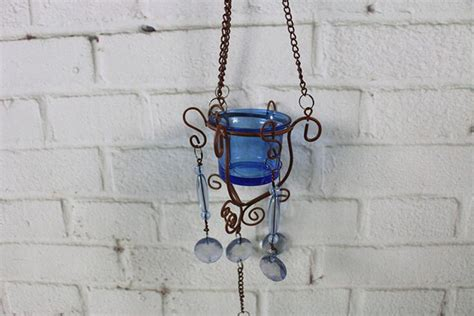 Home Decor 3 Light Pendant : Iron Wind Chimes Wall Haning Candle Holder Circular