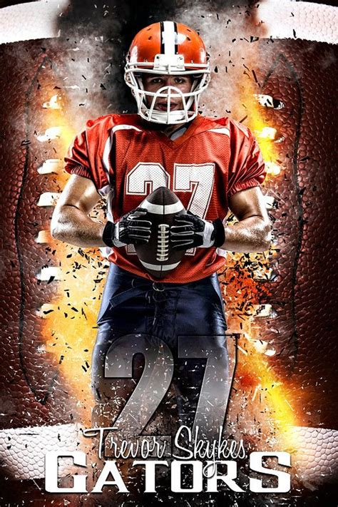 player banner photo template football inferno