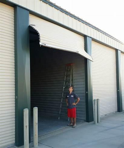 Garage Door Commercial Roll Doors Repair Damaged