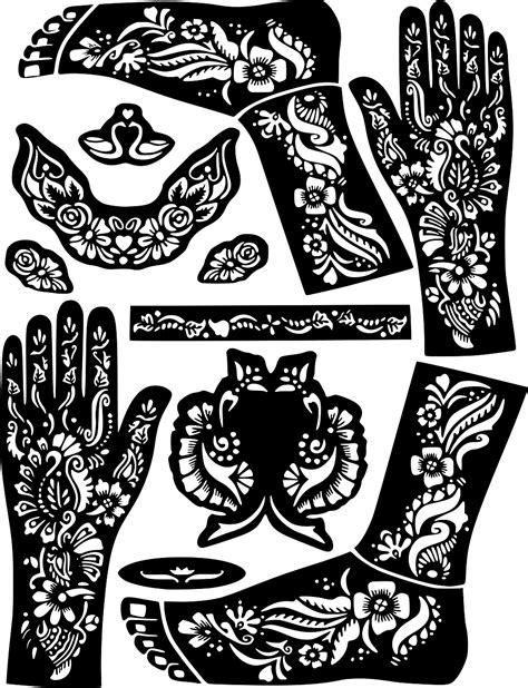 Swan Henna Temporary Tattoo Body Art Sticker Stencil