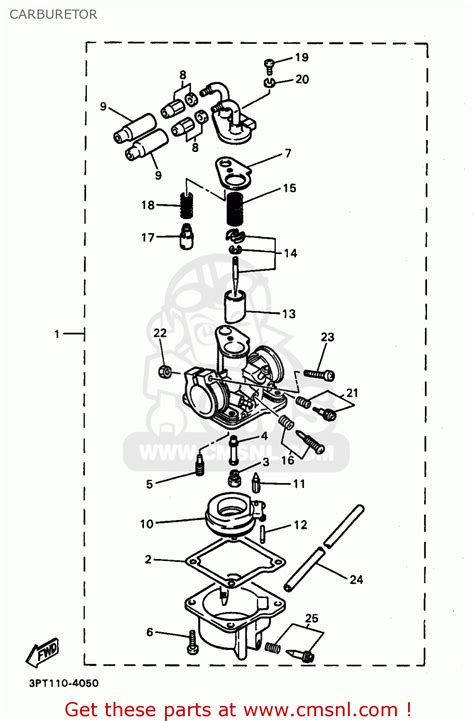 yamaha pw50 1 1998 w usa carburetor schematic partsfiche