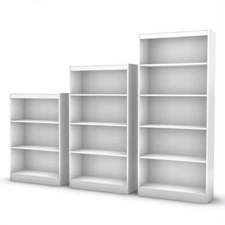 South Shore White Bookcase by South Shore 3 Bookcase Set In White Walmart