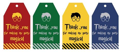 printable harry potter party favor gift tags lovely planner