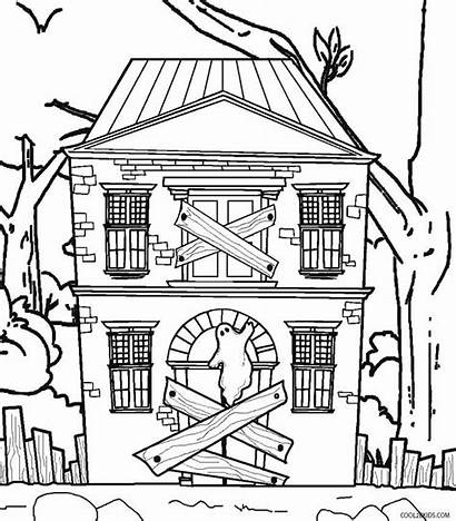 Haunted Coloring Pages Printable Cool2bkids