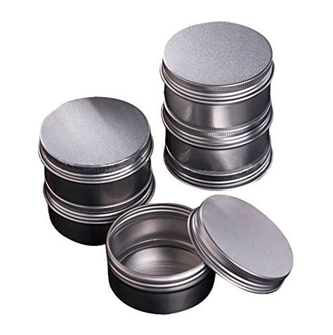 Healthcom 3 oz 15 Packs Round Aluminum Tin Cans Screw Top