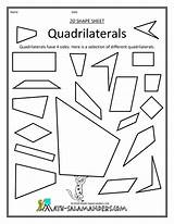 Math Geometry Quadrilaterals Worksheets Grade Worksheet Salamanders Shapes Printable Clip Classifying Cut Sort Mathematics Shape Activity Types Teaching 4th Outs sketch template