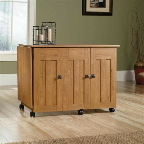 craft cabinet with drop table new sauder sewing craft table drop leaf shelves storage