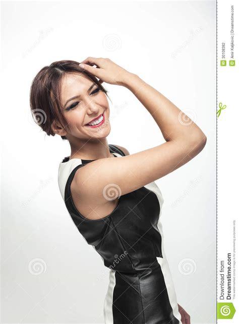 mulher elegante feliz foto de stock imagem de m 227 o feliz 30108382