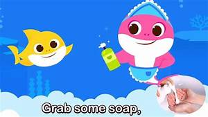 baby shark lyrics changed to wash your