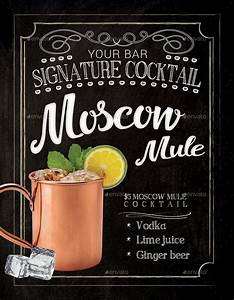 Free Flyer Maker Printable Moscow Mule Cocktail Flyer Template By Tunagaga Graphicriver