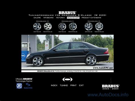 Maybe you would like to learn more about one of these? Mercedes-Benz Brabus parts catalog Order & Download