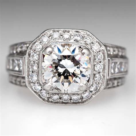 pre owned simon g 2 carat diamond engagement ring platinum