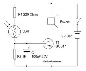 morning alarm sensor circuit1 mohan39s electronics blog With ldr switch circuit
