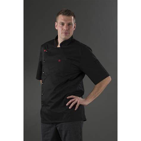 veste de cuisine manche courte veste de cuisine noir homme manches courtes my tablier