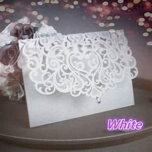 china vintage laser cut wedding invitations white 50pcs With laser cut wedding invitations from china