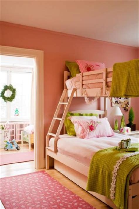 Pink And Green Girls Room Design Ideas