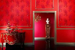 wohnen mit tapete warme fur die kalte jahreszeit www With balkon teppich mit rote tapete