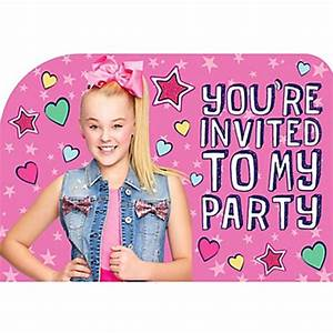 JoJo Siwa Invitations 8ct • Ultimate Party Super Store