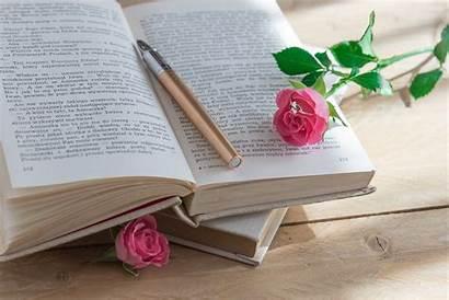 Rose Libro Pen Flower Writing Bunga Romantic