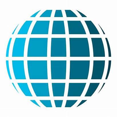 Globe Vector Line Clipart Web Internet Simple