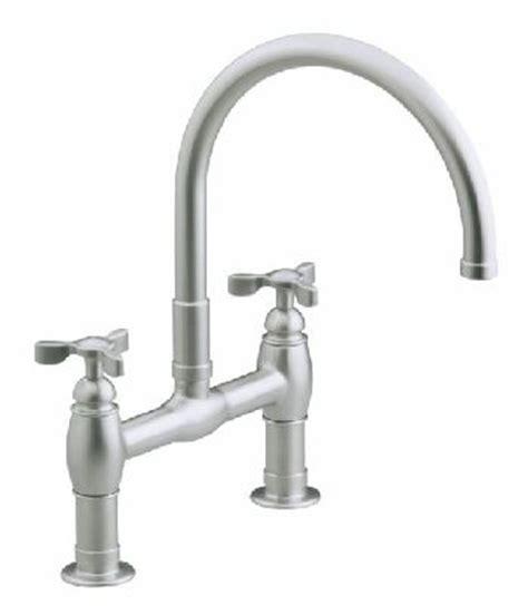 kohler k 6130 3 brz parq deck mount kitchen bridge faucet